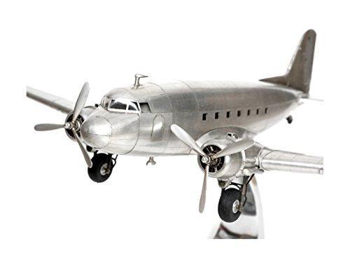 Brillibrum Design Modellflugzeug Douglas Dakota DC-3 Rosinenbomber Metall Vollmetall Standmodell Flugzeug-Modell Nachbildung Passagierflugzeug Transportflugzeug (Ohne Gravur)