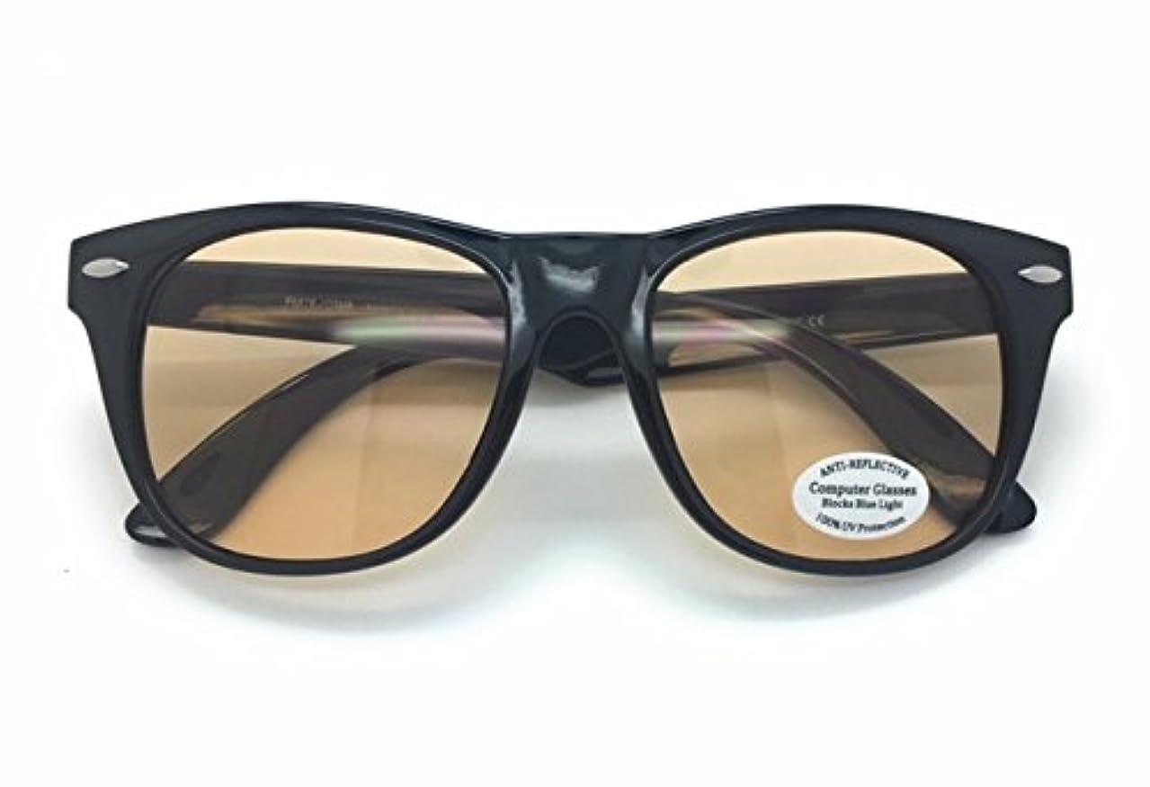 Blue Light Filter Computer Glasses for Blocking UV Headache Anti Eye Fatigue Transparent Lens Black Frame, Men Women with microfiber pouch