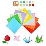 TTOOP 200 Fogli Colorati Origami Paper,Fogli Origami Double Face Carta per Origami per Bambini Fai-da-Te, Origami di Natale 17cm x 17cm