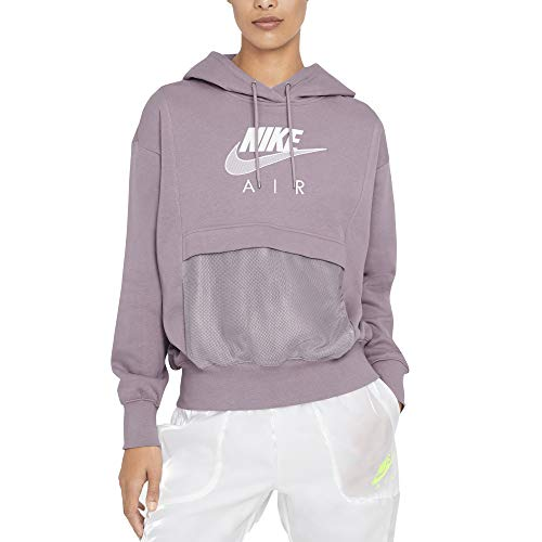 Nike Sudadera de mujer con capucha Air Morado, cód. CZ8620-531 fucsia / blanco XS