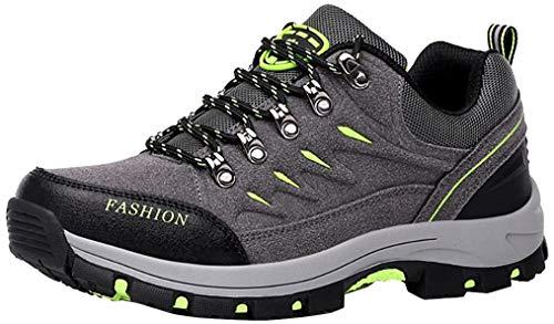 Easondea Herren/Damen Wanderschuhe Wanderstiefel Unisex Trekking Schuhe Outdoor Walking Schuhe Gleitsicher Stiefel mit Perfekter Dämpfung Dicker Size 44EU Grau