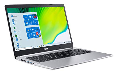 Acer Aspire 5 A515-44-R41B, 15.6' Full HD, AMD Ryzen 5 4500U Hexa-Core Mobile Processor with Radeon Graphics, 8GB DDR4, 256GB NVMe SSD, WiFi 5, HD Webcam, Backlit Keyboard, Windows 10 Home