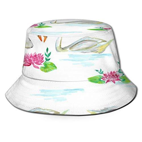 BUXI Printing Fisherman Hat,Ententeich Fischerhut, Uv-Schutz Angelhüte Für Wanderfischen Hochzeit