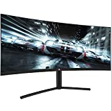 Deco Gear DGVM29PB 29-Inch 2560x1080 100Hz VA Curved Gaming Monitor, 4ms Response Time, 3000:1 Contrast Ratio, sRGB, NTSC 85, DCI-P3, and Adobe RGB Color Accurate