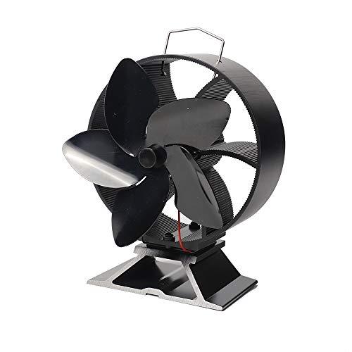 CX ECO Chimeneas Ventilador Estufa de leña Ventilador 5 Palas Respetuoso con el Medio Ambiente y eficiente Ventilador de Aire Caliente con alimentación de Calor para leña/Estufa de leña