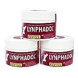 3 Paquetes de Lynphadol - remedio 100% natural para el dolor de espalda, dolor en las articulaciones, inflamación - 50 ml - Aceite esencial de menta, gaultheria, eucalipto