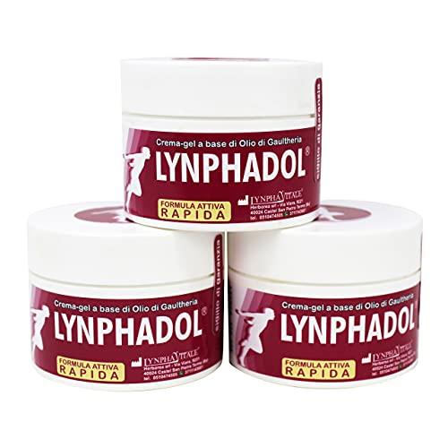 Lynphadol - Crème naturel - 50 ml - Huile essentielle de Menthe, Gaulthérie, Eucalyptus - 3 flacons