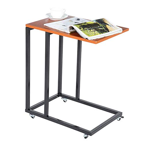 Side table C-shaped overbed table Narrow tea sofa Bedside table Laptop computer desk Storage trolley Workstation end Coffee snack table Bedside table with wheels for living room bedroom 50x3