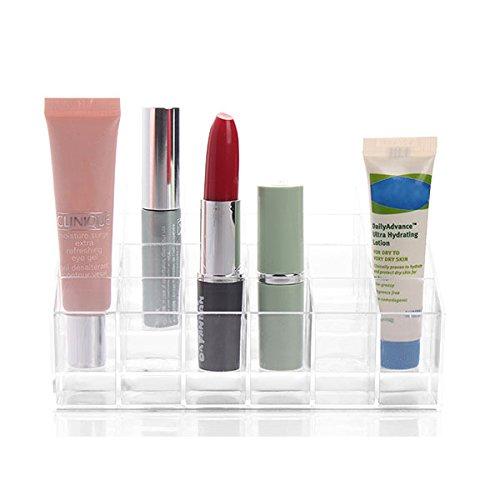 Inovey 24 Affichage Porte Rouge à lèvres Support Organisateur Maquillage Acrylique Clair diverses boîtes de Storge Transparentes