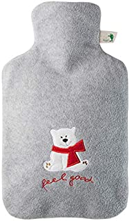 Hugo Frosch 1.8L Classic Hot Water Bottle with Cover Highest Quality - Made in Germany