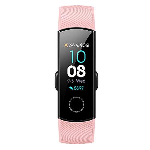 Honor Band 5 Fitness Tracker,Monitor della frequenza cardiaca e del sonno Spo2, Schermo 0,95    AMOLED 5ATM Impermeabile, Durata Della Batteria 14 Giorni,Quadrante multiplo, Rosa
