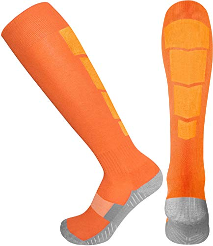 Elite Athletic Socks - Over The Calf - Dark Orange (Medium, Dark Orange)