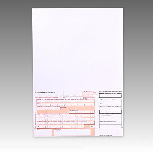 1000 x Überweisungsträger Überweisungsformular SEPA Zahlschein A4 unten links 732111 Menge wählbar