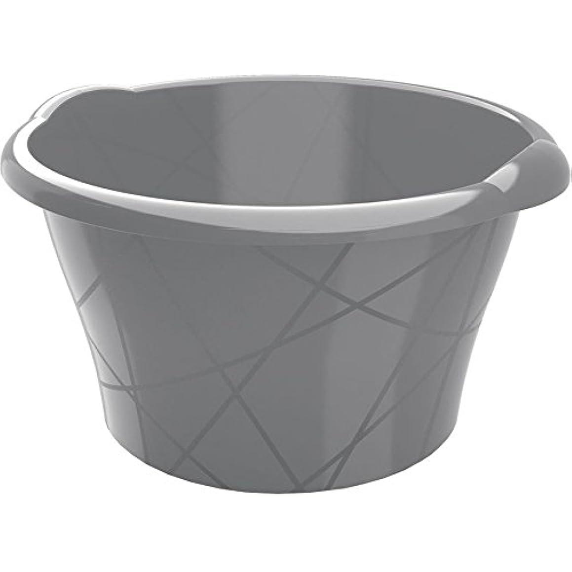 Kis Round Bowl 10 L in Silver, 38 x 36 x 18 cm