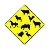 CDecor Animals Crossing Blechschilder, Metall Poster, Retro Warnschild Schilder Blech Blechschild Malerei Wanddekoration Bar Geschäft Cafe Garage
