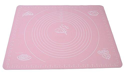 JRing Cottura, Matura di Cottura in Silicone Non Sticks Misure di Pasta di Pasticceria di Pasta Fondante per Casalinga -50 X 40 cm (Rosa)