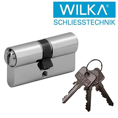 WILKA Normalprofil Doppelzylinder Halbzylinder Profilzylinder - Einzelschließung oder Gleichschließung - alle Längen 26/26 bis 60/60 bzw. 10/26 bis 10/90 - inkl. 3 Schlüssel (VS NGF 30/30)