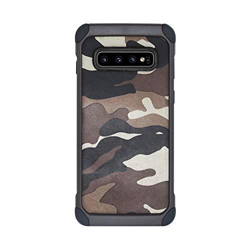 Hülle für Samsung Galaxy J120 Hülle Camouflage Schutzhülle Slim Fit hardcase Silikon 2 in 1 Handyhülle Ultraleicht Anti-Schock case Non-Slip Bumper Cover für Samsung Galaxy J120 (Brown)