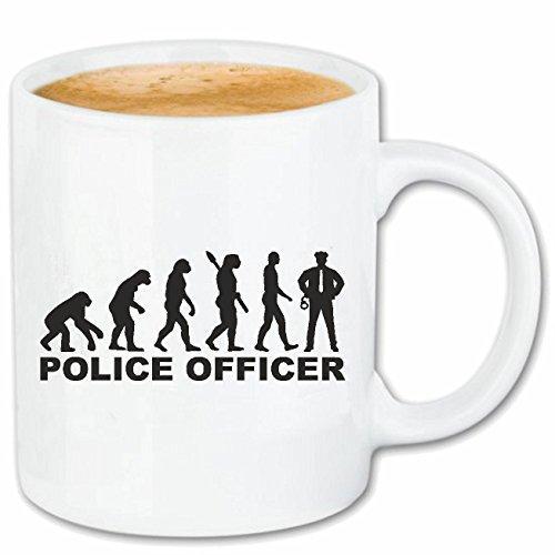Reifen-Markt Kaffeetasse Polizei - BUNDESPOLIZEI - Zoll - Polizist - POLIZEIBEHÖRDE Keramik 330 ml in Weiß