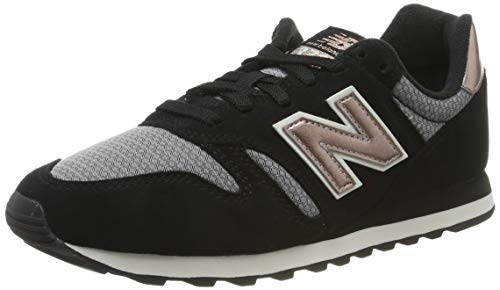 New Balance Damen 373 Sneaker, Schwarz (Black Black), 37.5 EU