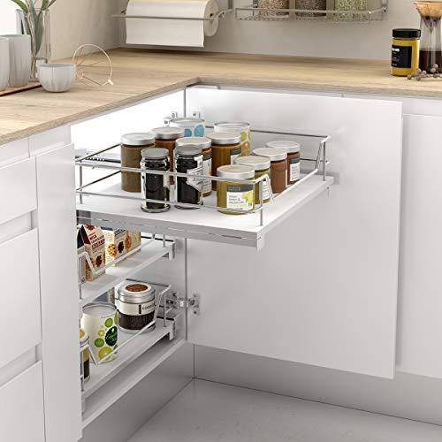 Casaenorden - Cesto extraíble con Base de melamina para Mueble de Cocina, 500