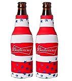 Officially Licensed Budweiser Bottle Suit Neoprene Beer Huggie Cooler Zipper Sleeve (2)