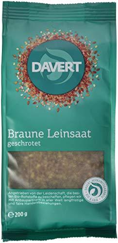 Davert Geschrotete Leinsaat, 6er Pack (6x 200 g) - Bio