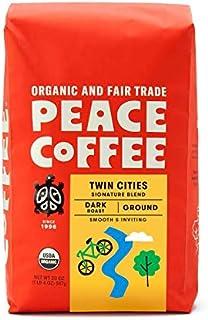 Peace Coffee Twin Cities Blend, Dark Roast (Sumatra, Peru & Honduras Origins) Organic Fair Trade Coffee, Ground 20 oz. Bag