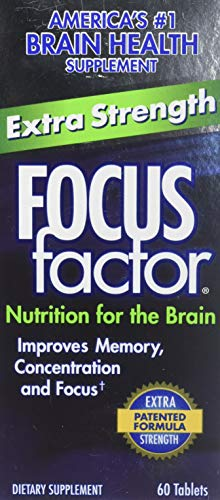 Focus Factor Extra Strength Tablets for Brain Health, 60 Ea, 60Count