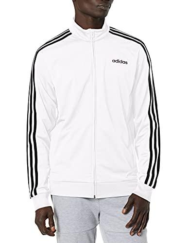 adidas Herren Essentials 3-Stripes Tricot Track Jacket Jacke, weiß, Large