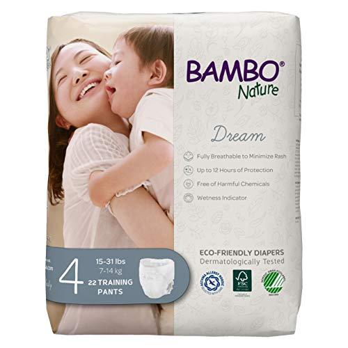 Bambo Nature Premium EcoFriendly Training Pants Size 4 1531 Lbs, White, 22 Count