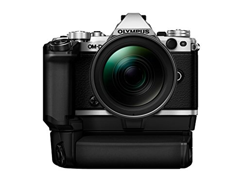 Olympus OM-D E-M5 Mark II Kit, Micro 4/3 System Camera (16.1 MP, 5-Axis Image Stabilisation, Electronic Viewfinder) + M.Zuiko 12-40mm Pro Universal Zoom + Power Battery Holder & Battery, Silver/Black