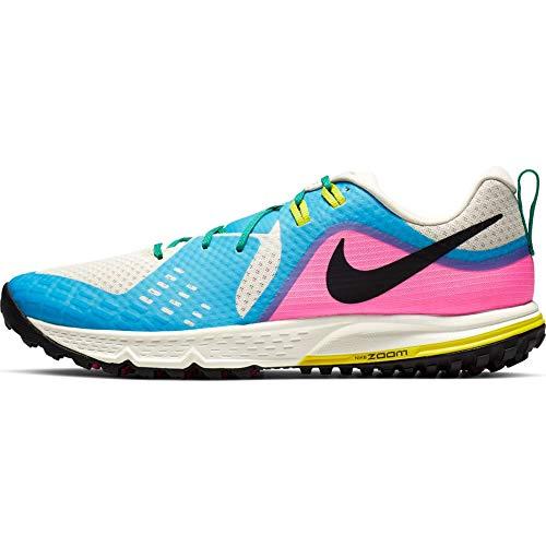 Nike Air Zoom Wildhorse 5 Men's Running Shoe LT Orewood BRN/Black-Blue Fury 9.0