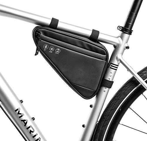 Bicicleta bicicleta Bolsa de ciclismo, bolso de triángulo de bicicleta, marco de tubo delantero Paquete de reflexión a prueba de agua Correa en la bolsa de almacenamiento de la bolsa de sillín, para m