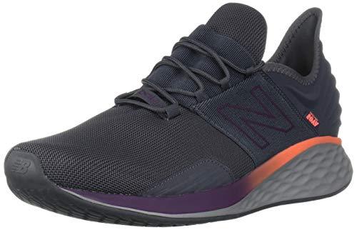 New Balance Men's Roav V1 Fresh Foam Running Shoe, Magnet/Dark Currant, 9 D US