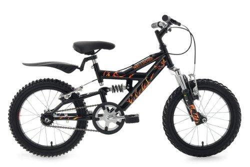 KS Cycling Helldogs TC VTT Enfant Noir 16'' 28 cm