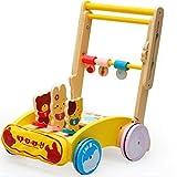 TOOSD Andador Infantil Más Nuevo, Andador De Movilidad Durante 1-3 Años, Andador De Madera para Evitar Colisiones/Andador Fácil Plegable/Velocidad Ajustable,A
