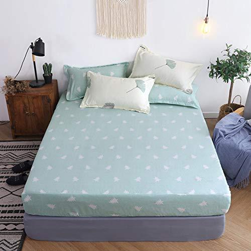 Hllhpc Wit Ster Geel Hoeslaken met Elastische Band Cover 25cm Diepe Bed Sheet op Elastische Band Bed Linnen Twin Full Queen