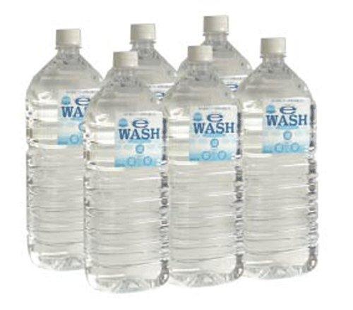 【6本セット】アルカリイオン水 E-WASH イーウォッシュ 2リットルボトル