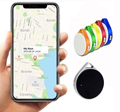 Key Finder, Mini Bluetooth Dispositivos Tracker, perdida Anti-Chip de GPS, Controles remotos, Item Finder perseguidor Elegante, teléfono localizador, Pet Tracker. (Color : Azul, Talla : 1 Pcs)