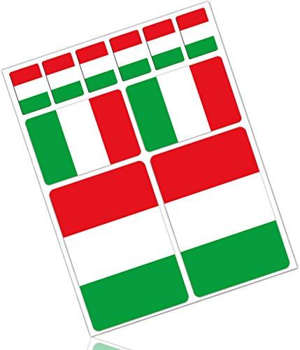 Biomar Labs® 10pcs Pegatina Italia Bandera Italy Flag Vinilo Adhesivo Coches Cascos...
