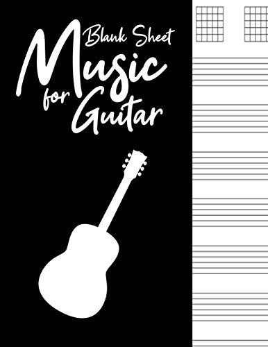 Blank Sheet Music for Guitar: Blank Sheet Music for Guitar:Guitar Tab Notebook, Good Life Quotes, Music Composition Books, Music Manuscript Paper 110 ... Clef Play Rest Repeat ,Blank Sheet music