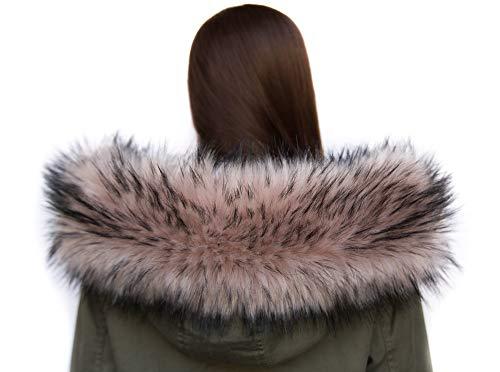 Chic Vibe Chal de piel sintética, cuello de imitación...
