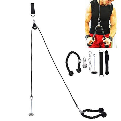 Forearm Wrist Roller Trainer Arm Strength Training Exerciser,Strength Training Fitness Equipment Loading Pin Expander Dumbbell Three‑Heads Rope Set