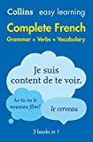 Easy Learning French Complete Grammar, Verbs and Vocabulary (3 books in 1) (Collins Easy Learning)