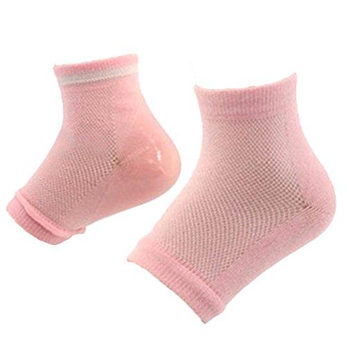 Chaussures unisexe talon chaussettes Spa hydratant talon peau soin de nuit protecteur avec orteils Design ouvert pour la peau durement craquelée sèche de soulagement des pieds douleur