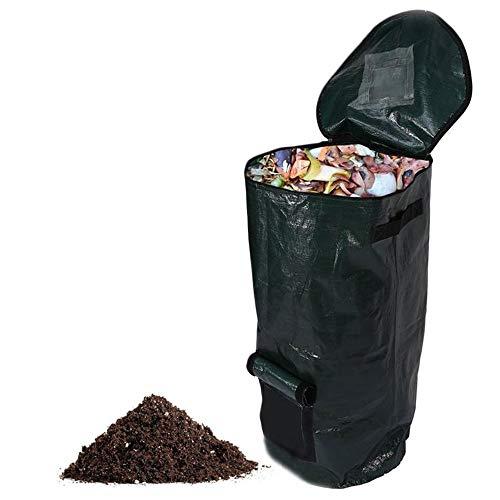HOTBEST コンポストバッグ 堆肥袋 ゴミ箱 有機性 台所庭 環境 プランター 自家製の有機肥料 プロバイオティクス発酵バッグ 食品廃棄物処理バッグ果物 ガーデン用 植え袋 コンポストバッグ 肥料袋 PE布製 堆肥コンポスターバッグ 果物や台所廃棄物処