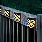 Eurobuy Solar Lights Outdoor, 4Pcs Solar Motion Light IP55 Waterproof Solar Power LED Light Wall-Mounted Lamp for Garden, Patio, Yard, Deck, Garage, Fence Pool