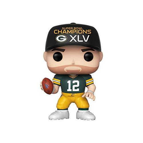 Funko 44658 POP NFL: Packers-Aaron Rodgers (SB Champions XLV) Sammelbares Spielzeug, Mehrfarben