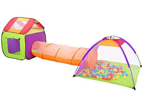 ISO TRADE Tent for children 3 in 1 - igloo house with tunnel + balls #2881